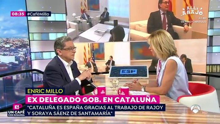 Enric Millo con Susanna Griso en Antena 3 TV