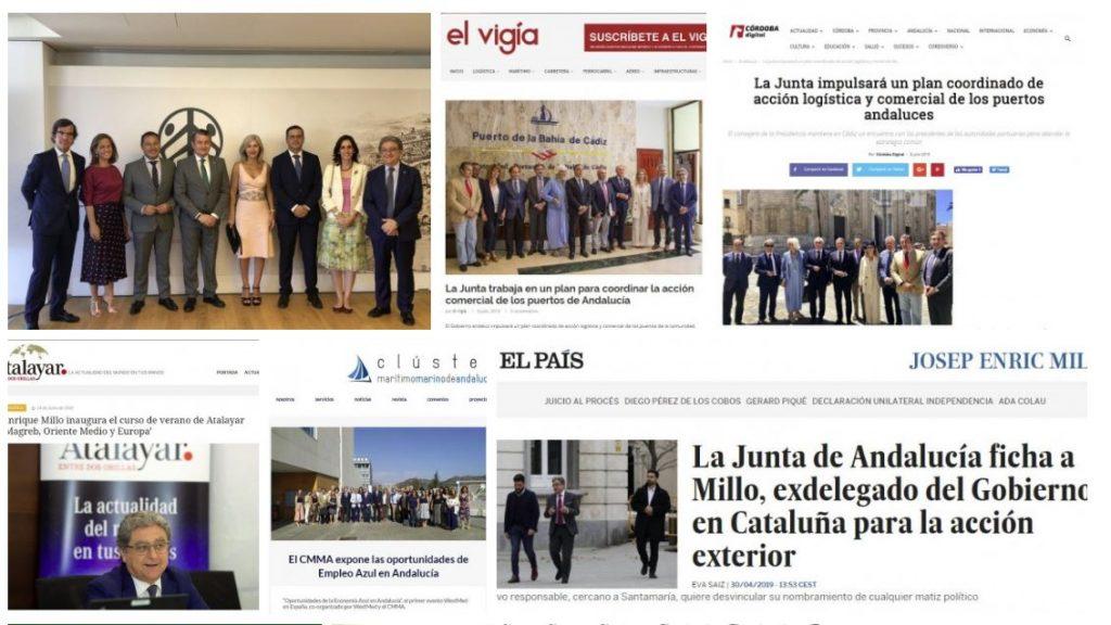 Galería de imágenes y prensa de J. Enrique Millo, Secretario general de Acción Exterior, Consejería de Presidencia de la Junta de Andalucía